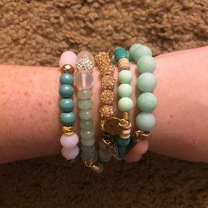 Never worn Erimish bracelets